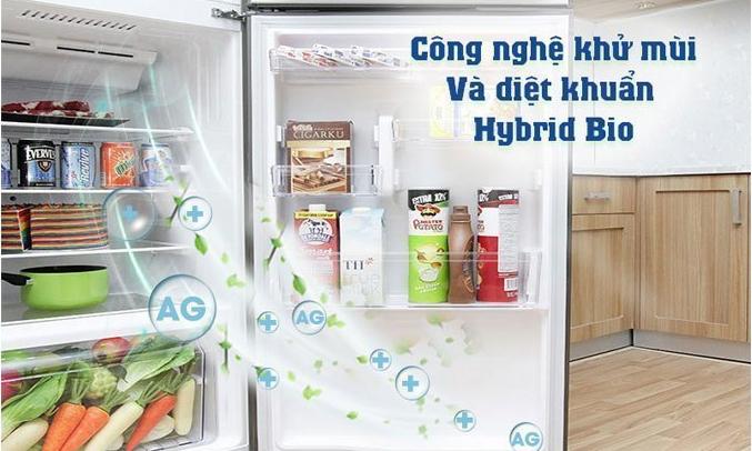 Tủ lạnh Toshiba GR-AG36VUBZ (XK1) màu đen khử mùi, diệt khuẩn