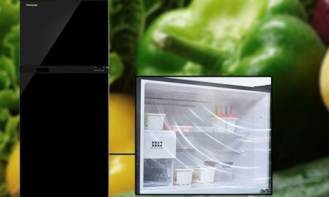 Tủ lạnh Toshiba GR-A28VU(UK) màu đen làm lạnh nhanh