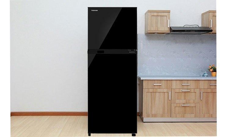 Tủ lạnh Toshiba GR-M28VUBZ(UK) 226 lít đen thiết kế lịch lãm, màu sắc hiện đại