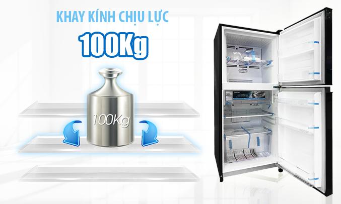 Tủ lạnh Toshiba Inveter 171 lít GR-M21VUZ1 (UKK) khay kệ bền bỉ, linh hoạt