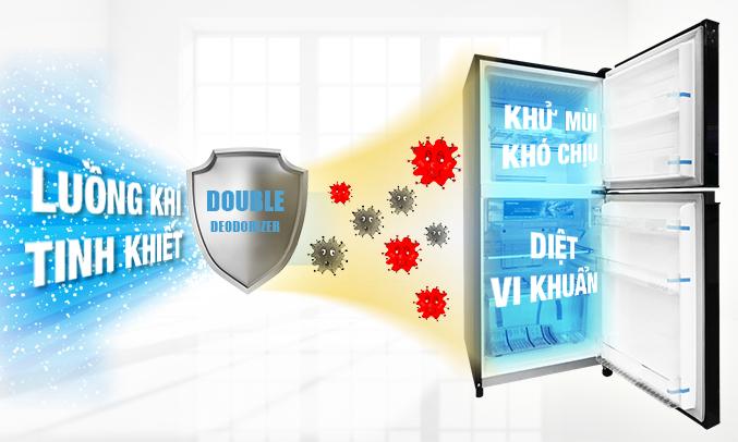 Tủ lạnh Toshiba GR-AG46VPDZ (XK) màu đen kháng khuẩn, khử mùi hội vượt trội
