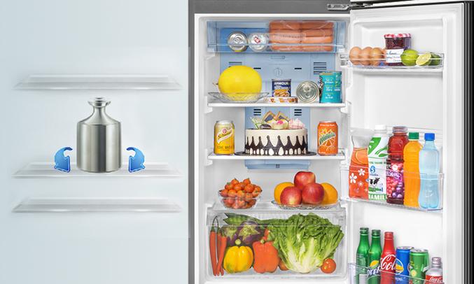 Tủ lạnh Aqua AQR-I247BN (DC)đảm bảo thực phẩm tươi