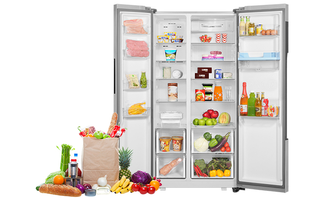Tủ lạnh Aqua AQR-I565AS (SW) dung tích lớn