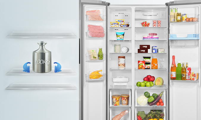 Tủ lạnh Aqua AQR-I565AS (SW) chịu lực tốt