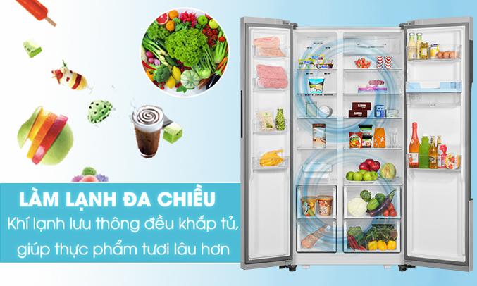 Tủ lạnh Aqua AQR-I565AS (SW) làm lạnh nhanh