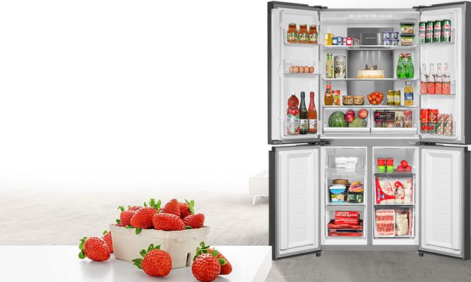 Tủ lạnh Aqua 505 lít AQR-IG595AM (GB)đảm bảo thực phẩm tươi