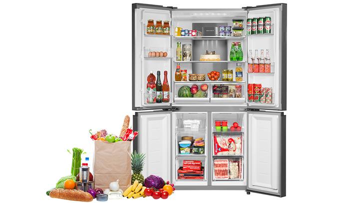 Tủ lạnh Aqua 505 lít AQR-IG595AM (GB)khử mùi