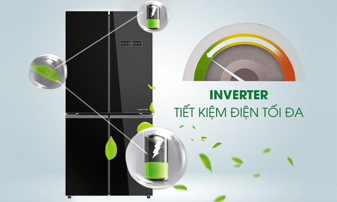 Tủ lạnh Aqua 505 lít AQR-IG595AM (GB) chính hãng