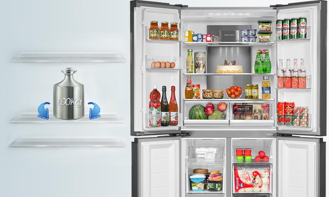 Tủ lạnh Aqua 505 lít AQR-IG595AM (GB)phân phối tại Nguyenkim