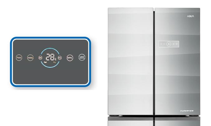 Tủ lạnh Aqua AQR-IG595AM (GS) hiện đại