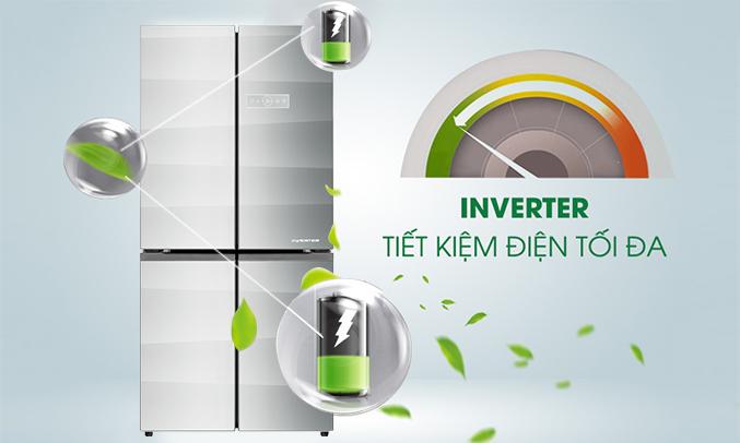 Tủ lạnh Aqua AQR-IG595AM (GS) chính hãng