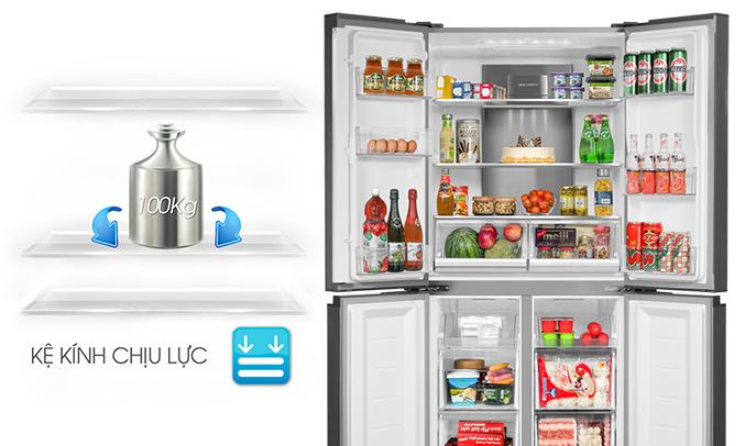 Tủ lạnh Aqua AQR-IG595AM (GS) chịu lực