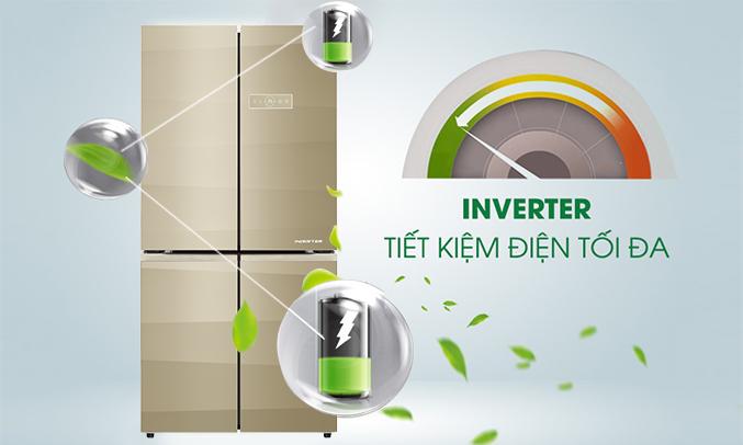 Tủ lạnh Aqua AQR-IG595AM (SG) chính hãng
