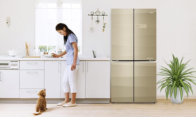 Tủ lạnh Aqua AQR-IG595AM (SG) giá tốt