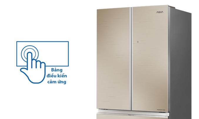 Tủ lạnh Aqua AQR-IG656AM (GC)cảm ứng