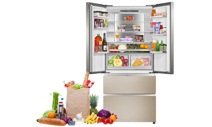 Tủ lạnh Aqua AQR-IG656AM (GC)dung tích lớn