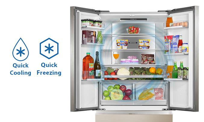 Tủ lạnh Aqua AQR-IG656AM (GC)chính hãng
