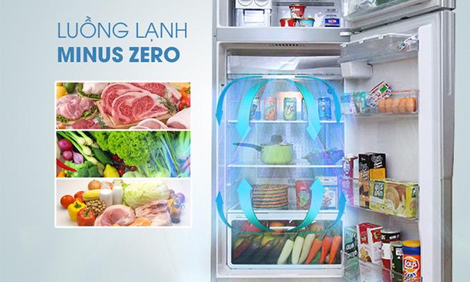 Tủ lạnh Aqua 318 lít AQR-IG356DN (GB) đảm bảo thực phẩm tươi