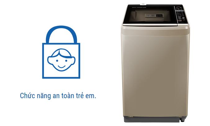Máy giặt Aqua AQW-D901BT (N) An toàn cho trẻ em