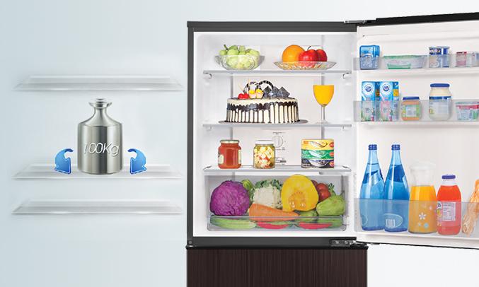 Tủ lạnh Aqua AQR-IP290DB (DC) khay kính chịu lực tốt
