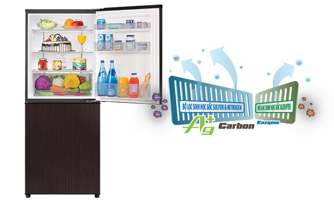 Tủ lạnh Aqua AQR-IP290DB (DC) diệt khuẩn , khử mùi