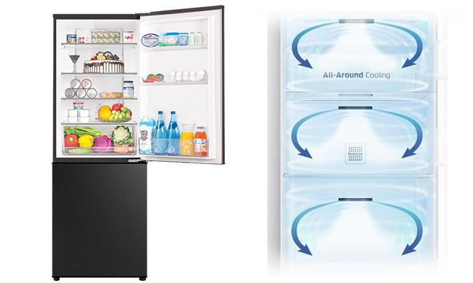 Tủ lạnh Aqua AQR-IP350DB (BL) làm lạnh nhanh
