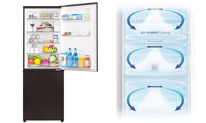 tủ lạnh Aqua AQR-IP350DB (DC) làm lạnh nhanh