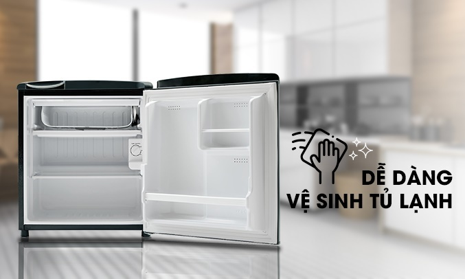 Tủ lạnh Aqua 50 lít AQR-D59FA (BS)
