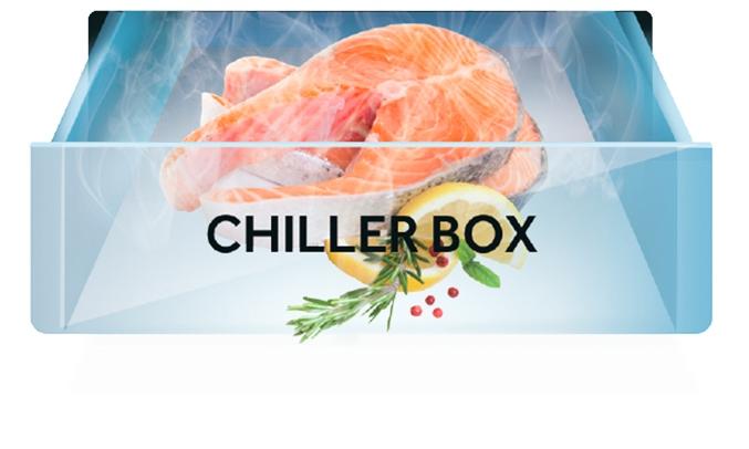 Tủ lạnh Aqua Inverter 235 lít AQR-IG248EN (GB) - Ngăn Chiller