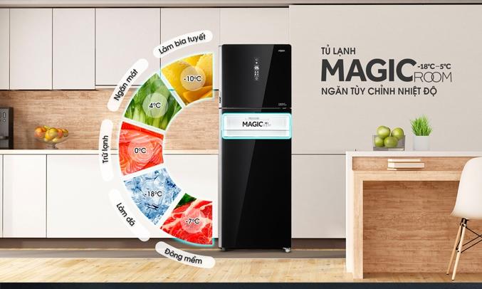 Tủ lạnh AQUA Inverter 312 lít AQR-T359MA(GB) đa dạng ngăn chứa
