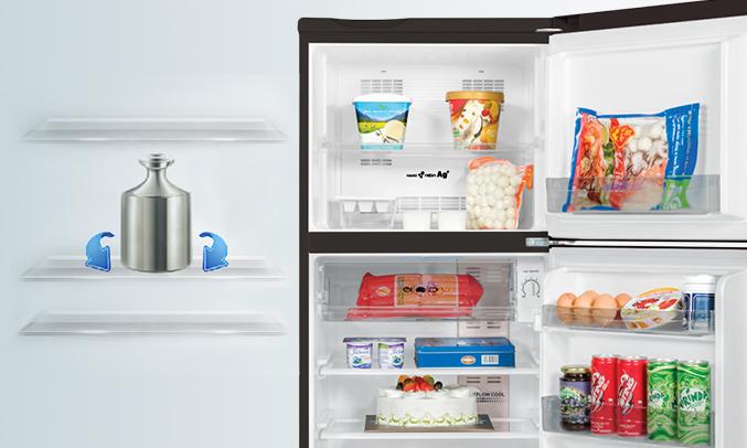 Tủ lạnh Aqua AQR-I190DN (DC) khay tủ chịu lực tốt