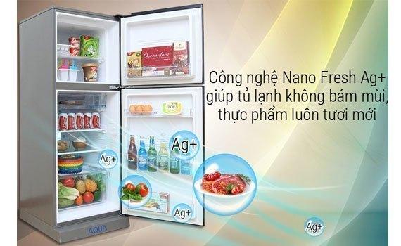Tủ lạnh Aqua 281 lít AQR-I287BN (PS) khử mùi hôi vượt trội