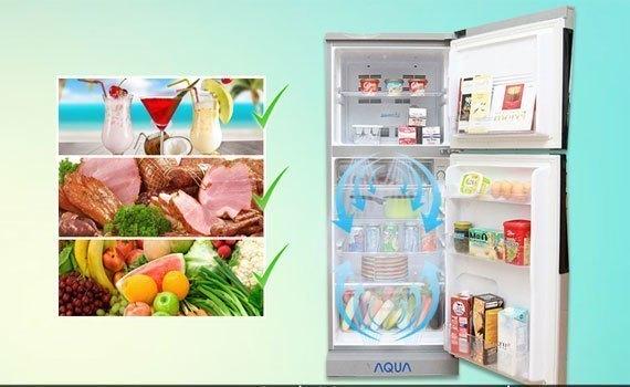 Tủ lạnh Aqua 281 lít AQR-I287BN (PS) làm lạnh đa chiều
