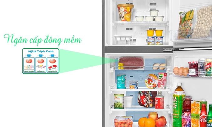 Tủ lạnh Aqua AQR-I226BN 204 lít ngăn cấp đông mềm