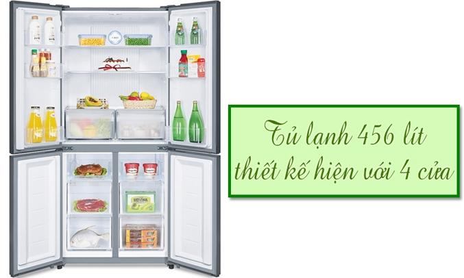 Tủ lạnh Aqua AQR-IG525AM có dung tích 456 lít