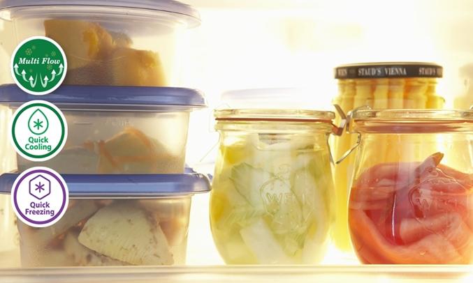 Tủ lạnh Aqua AQR-IG525AM456 lít trắng được áp dụng luồng không khí lạnh đa chiều