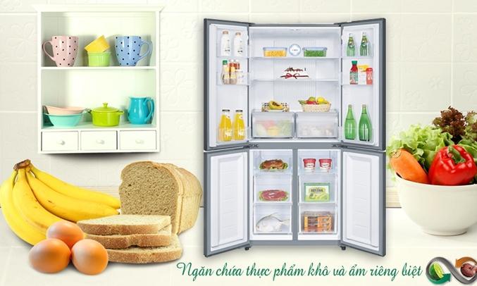 Tủ lạnh Aqua AQR-IG525AM456 lít trắng có ngăn chứa riệng biệt