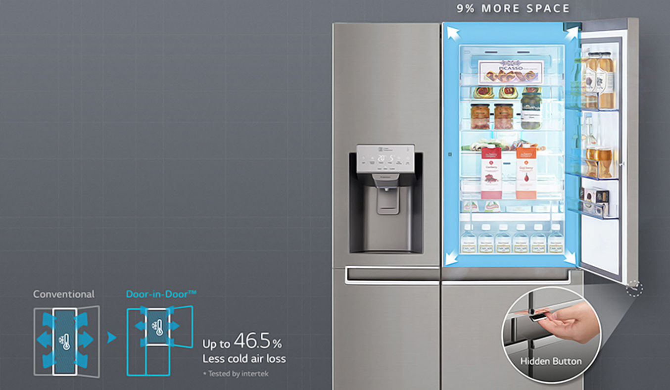 Tủ lạnh LG GR-P247JS 601 lít làm lạnh đa chiều