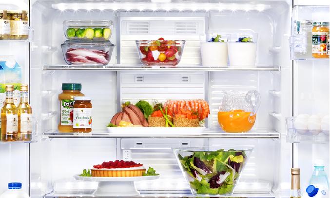 Tủ lạnh Mitsubishi Electric Inverter 506 lít MR-WX52D-BR-V - Hai dải đèn LED