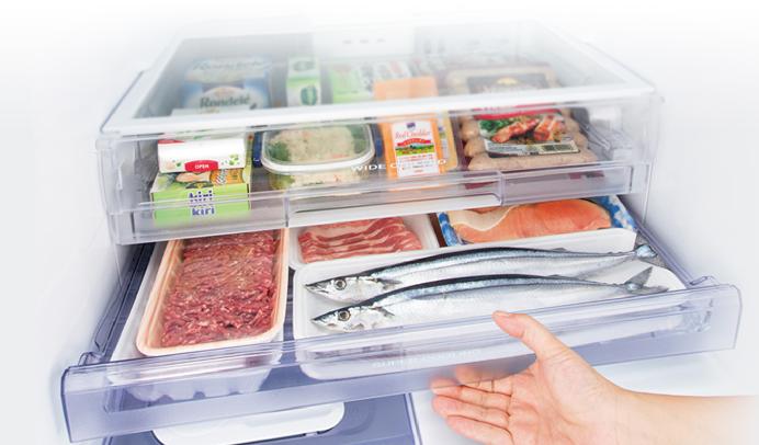 Tủ lạnh Mitsubishi Inverter 330 Lít MR-CGX41EN-GBK-V - 2 ngăn mát độc lập