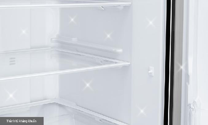 Tủ lạnh Mitsubishi Inverter 330 Lít MR-CGX41EN-GBK-V - Hệ thống khử mùi và thành tủ kháng khuẩn