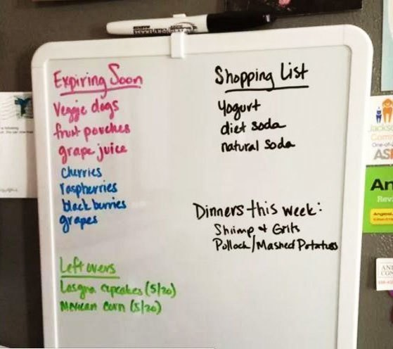 Bảng tin văn phòng trang sẽ giúp bạn nhớ còn gì trong tủ lạnh