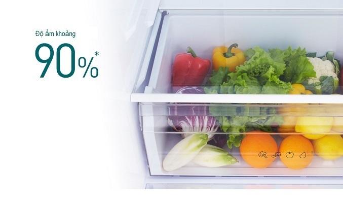 Tủ lạnh Panasonic Inverter 322 lít NR-BV360GKVN - Ngăn rau quả tăng cường ẩm