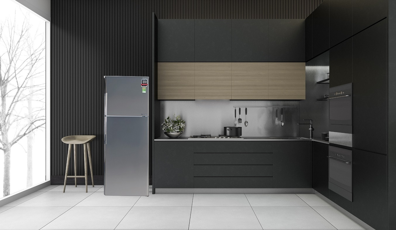 Tủ lạnh Sharp Inverter 315 lít SJ-X346E-SL - thiết kế ngăn đá trên