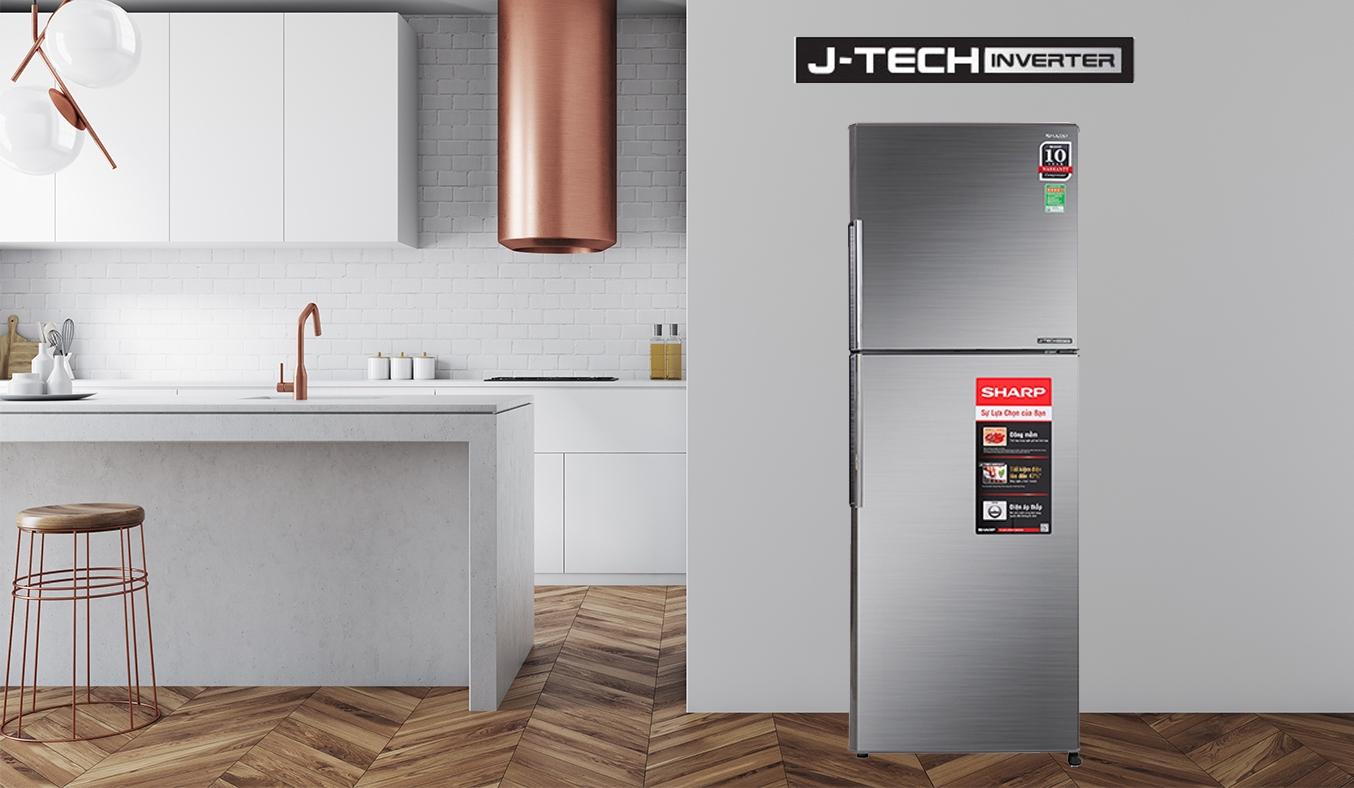 Tủ lạnh Sharp Inverter 314 lít SJ-X316E-DS - Công nghệ J-tech Inverter