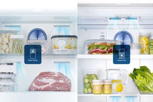 Công nghệ làm lạnh kép trên tủ lạnh Sharp giúp thực phẩm bảo quản trong tủ lạnh luôn ở trạng thái tươi ngon