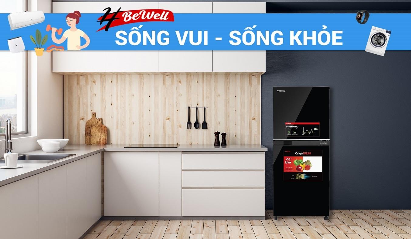 Tủ lạnh Toshiba Inverter 180 lít GR-B22VU (UKG) - Thiết kế nhỏ gọn