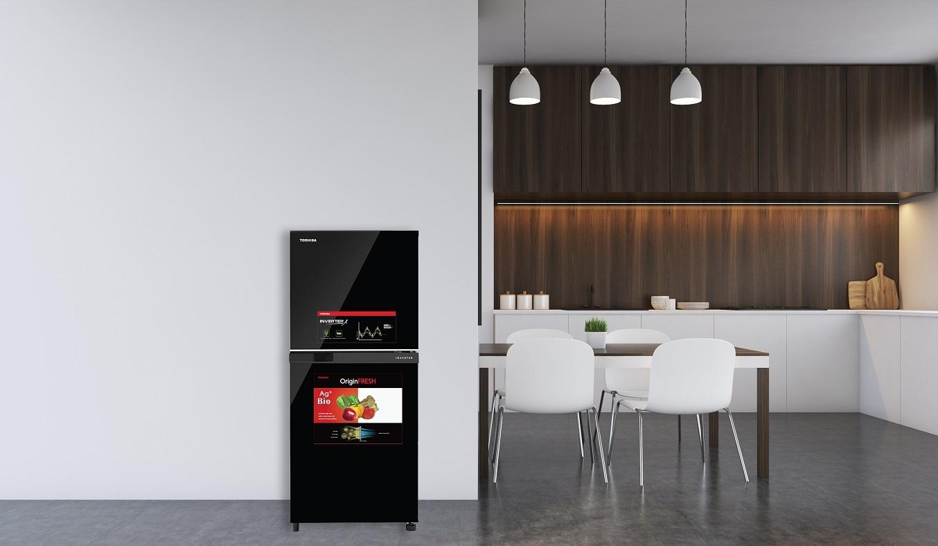 Tủ lạnh Toshiba Inverter 180 lít GR-B22VU (UKG) - tiết kiệm