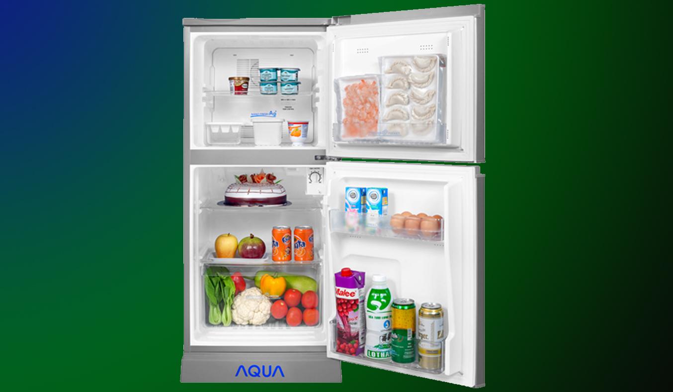 Tủ lạnh Aqua AQR-125BN 110 lít bạc không đóng tuyết