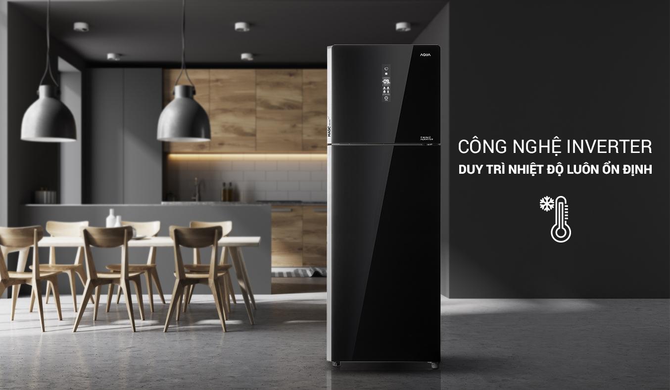 Tủ lạnh AQUA Inverter 312 lít AQR-T359MA(GB) tiết kiệm điện